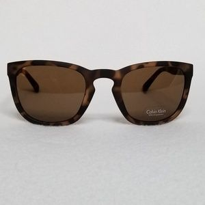 Calvin Klein Tortoise Cat Eye Sunglasses